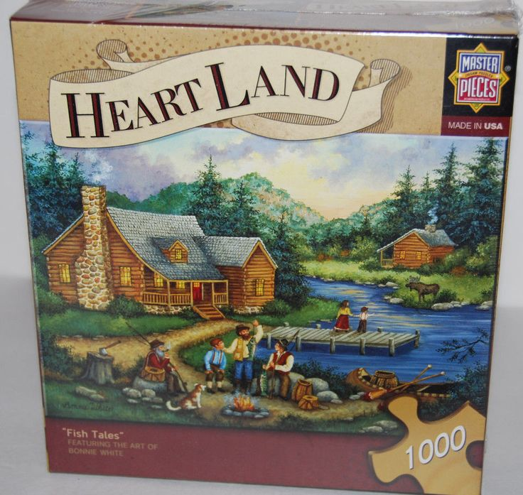 Fish Tales By Bonnie White 1000 Piece MasterPieces Heartland Jigsaw Puzzle NEW #MasterPieces