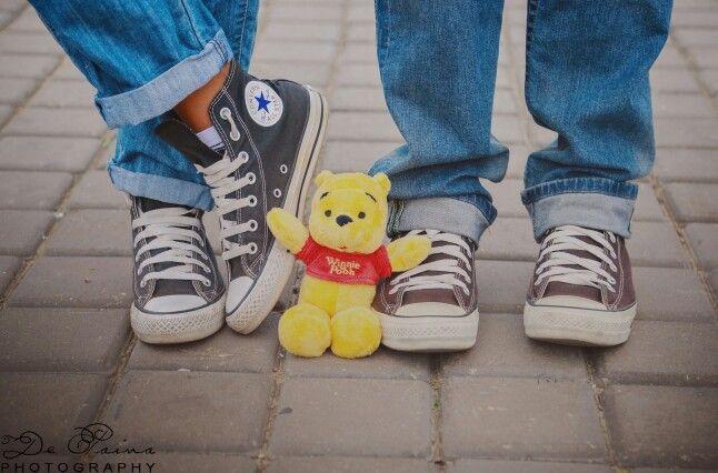 Pooh bear and baby bump..