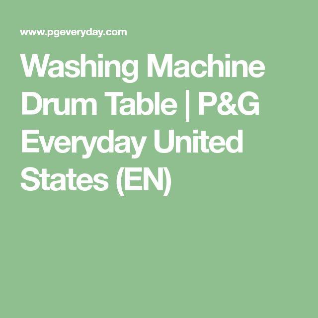 Washing Machine Drum Table | P&G Everyday United States (EN)