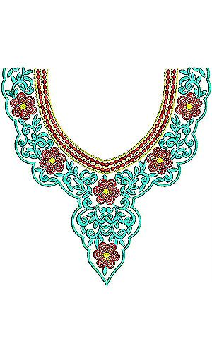 Boho Chic | Neck Yoke Gala Embroidery Design