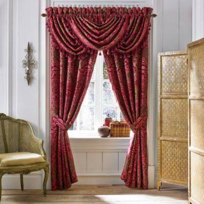 Croscill Fuchsia Curtain Pair - 84 Inches Long