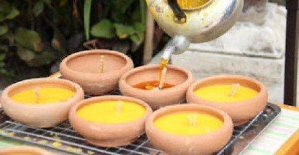 Φτιάξτε ένα υπέροχο κερί με τις λαμπάδες που ξέμειναν!