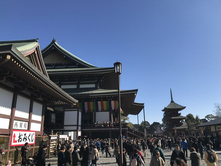 Japanese temple in New Year
