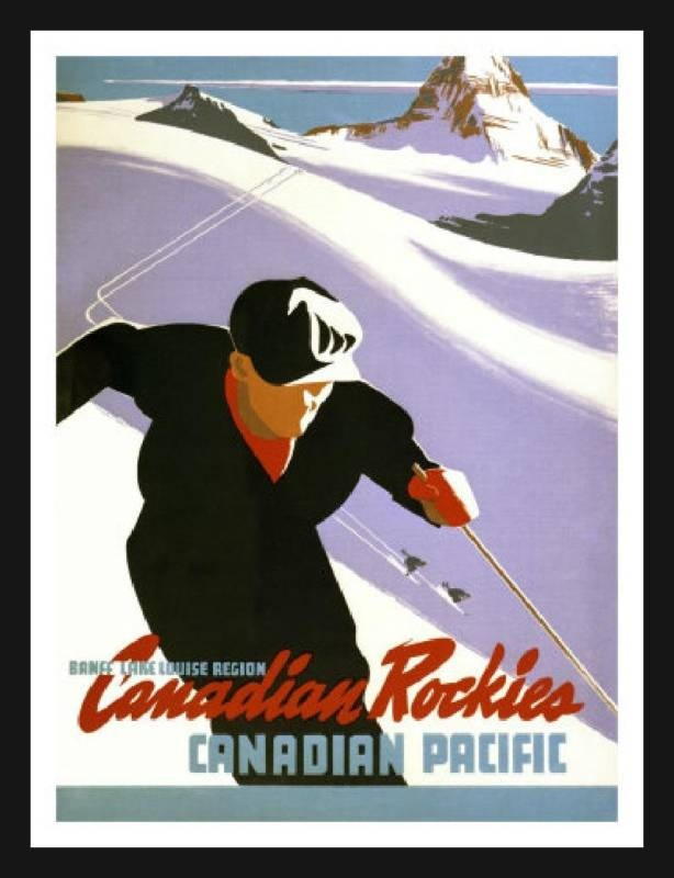 Canadian Rockies. Love this old advertisement!