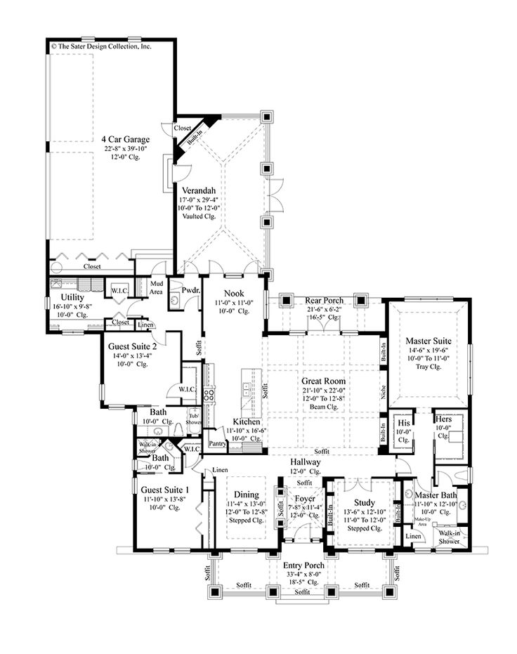 Large Master Bathroom Floor Plans Collection Gorgeous 604 Best Floor Plans Images On Pinterest  Home Plans House Floor . Inspiration