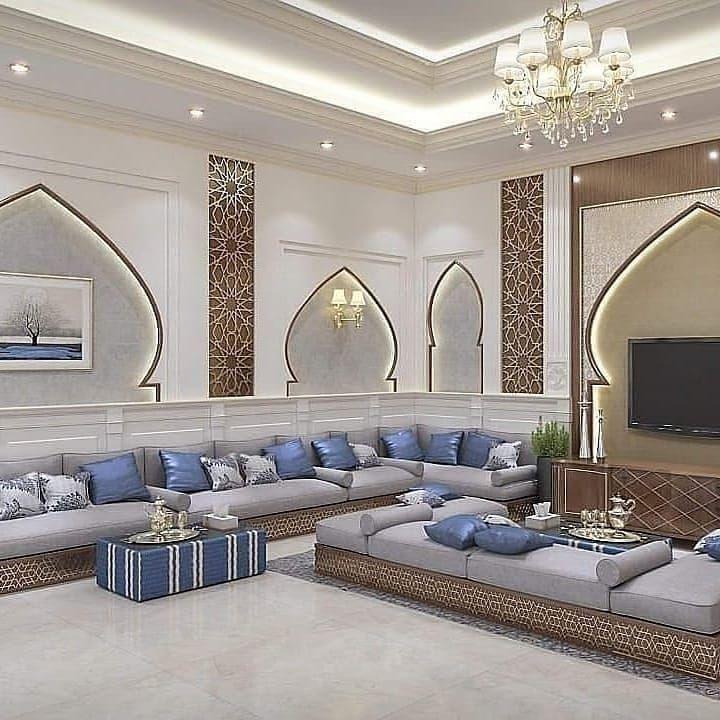 كنبات مجالس رجال ونساء فخمة مغربي وخليجي قصر الديكور Ceiling Design Living Room False Ceiling False Ceiling Design