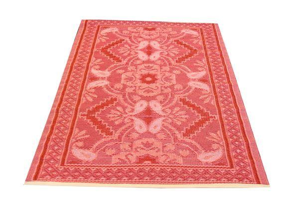plastic vloerkleed native rood