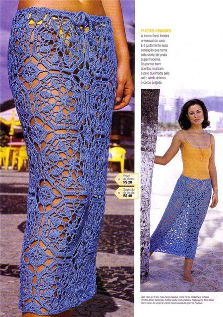 Easy to do! crochet skirt from motifs obviously lined!