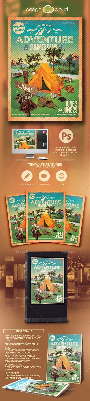 Camping Flyer Design
