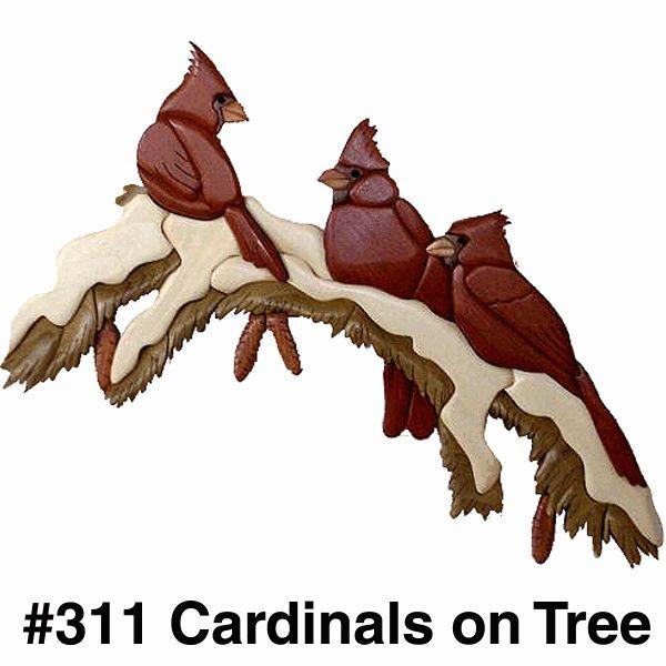 Intarsia, Cardinals in Tree