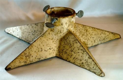 Vintage Christmas Tree Stand ~ Cast Iron Gold Star Christmas Tree Stand * Circa, 1940's