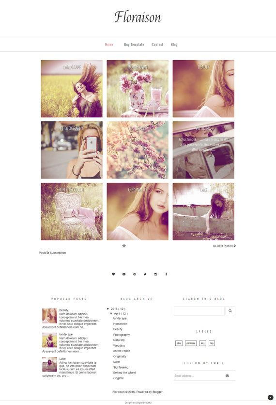 201 best Plantillas Responsive para Blogger images on Pinterest ...
