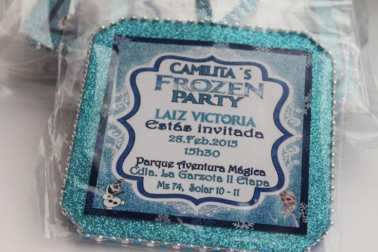 Invitación tarjeta Frozen