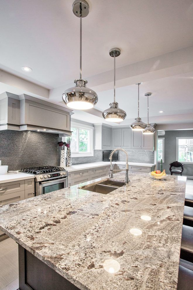 New Azul Aran Kitchen Transitional With Granite Toronto