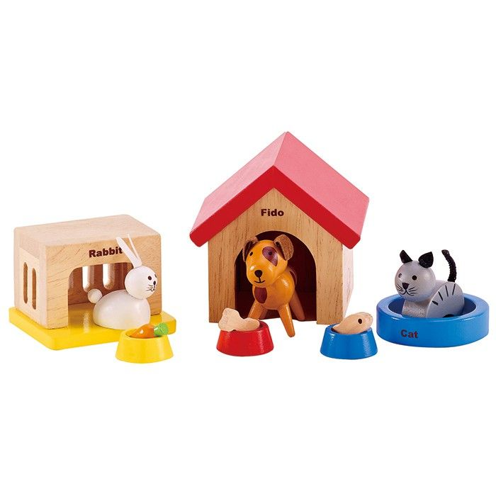 Essential furniture set for any Hape dollhouse. Includes quality items made from wood and non-toxic paints. Encourages imaginative role play.