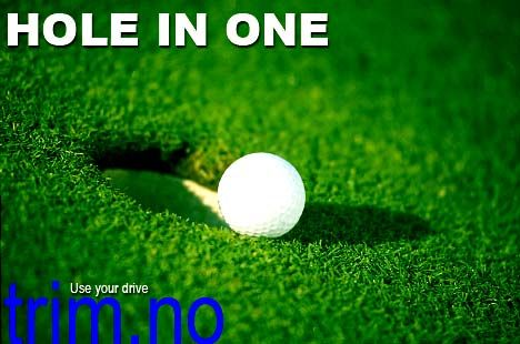 golf, hole in one, use your drive.
