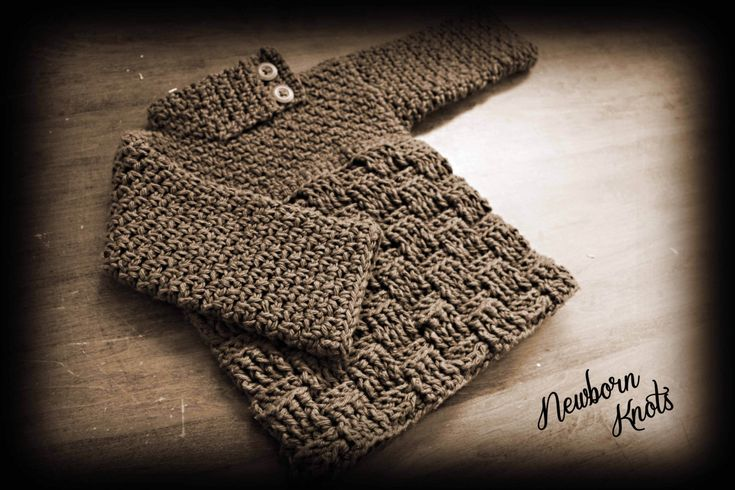 CROCHET PATTERN for Boys or Girls Baby Sweater by NewbornKnots