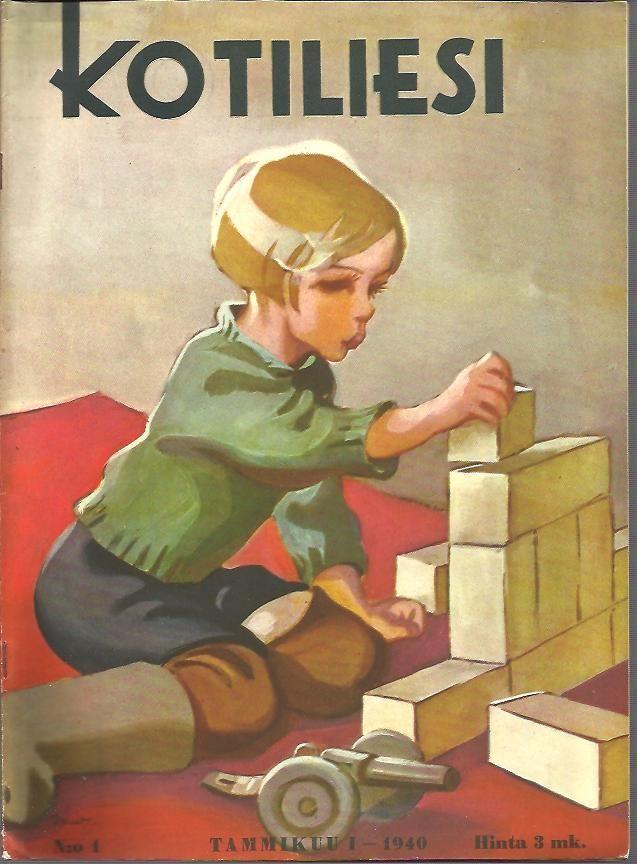 Kotiliesi Magazine cover by Martta Wendelin, 1940.