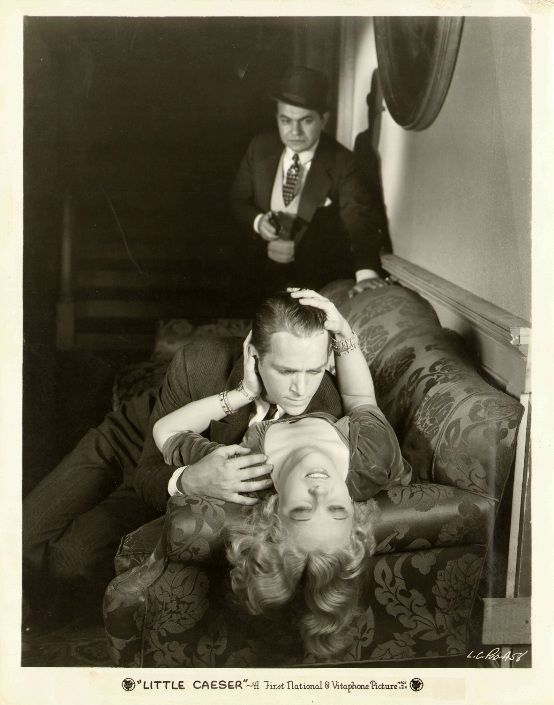 Edward G Robinson, Douglas Fairbanks Jr., and Glenda Farrell LITTLE CAESAR publicity still. Featured in interview with Farrell biographer Scott Allen Nollen: http://immortalephemera.com/56342/glenda-farrell-interview/