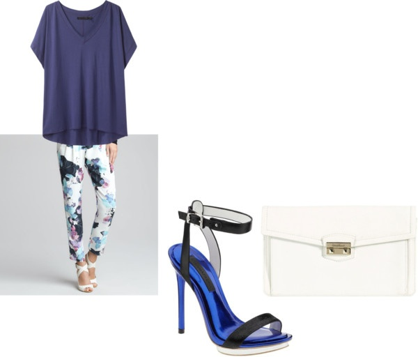 """""""Phillip Lim Floral Pants outfit"""" by tanyfashionista on Polyvore"""