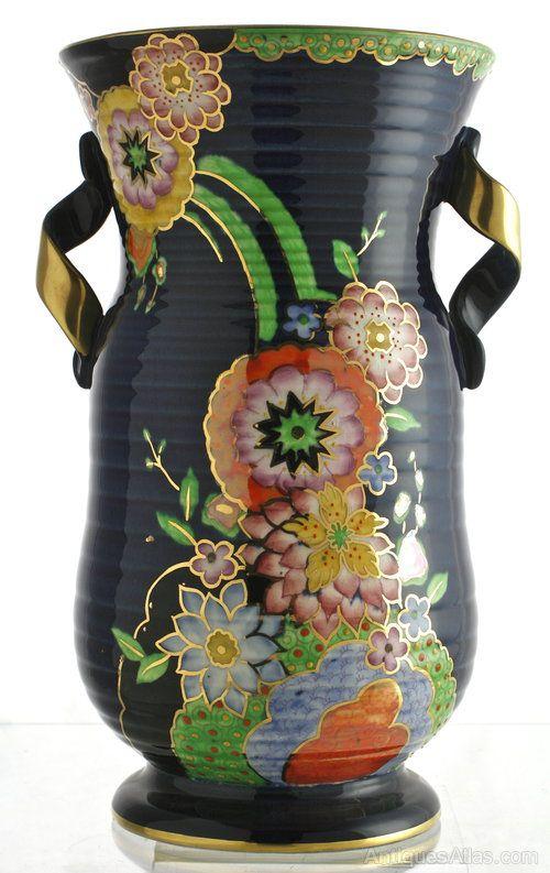 Antique Fieldings Crown Devon Art Deco Vase Art Deco