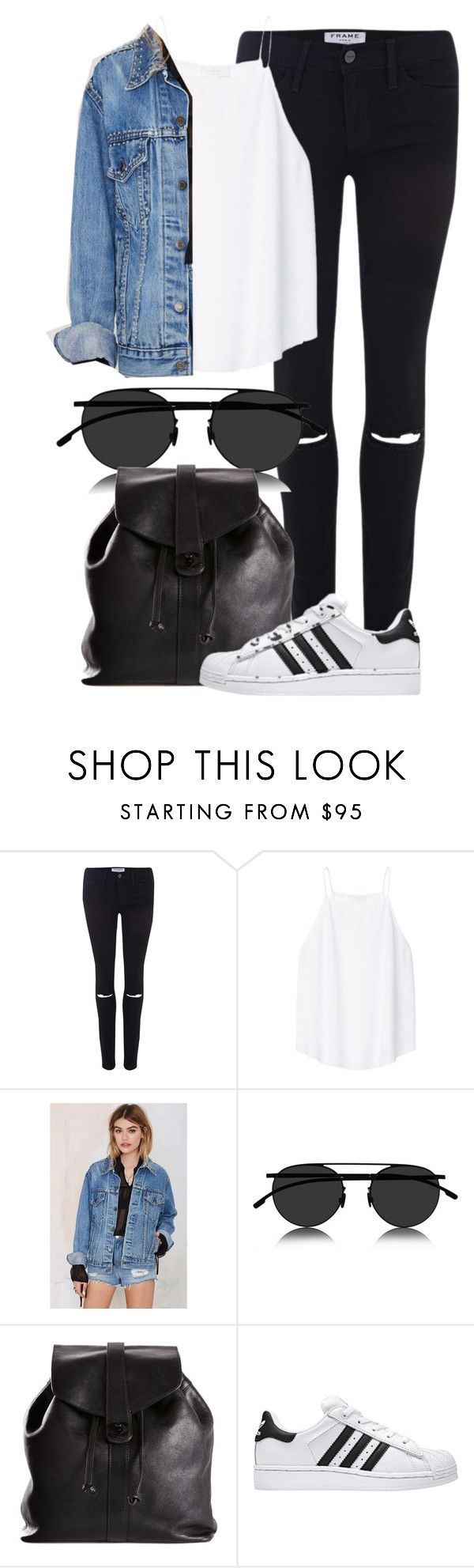 """""""Untitled #1917"""" by annielizjung ❤ liked on Polyvore featuring Frame, Wilfred, American Vintage, Mykita and Chanel"""
