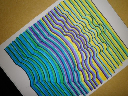 STEP BY STEP ON HOW TO DRAW THIS COOL 3-D HAND-PRINT with markers and pencil. This is s very fun craft!!
