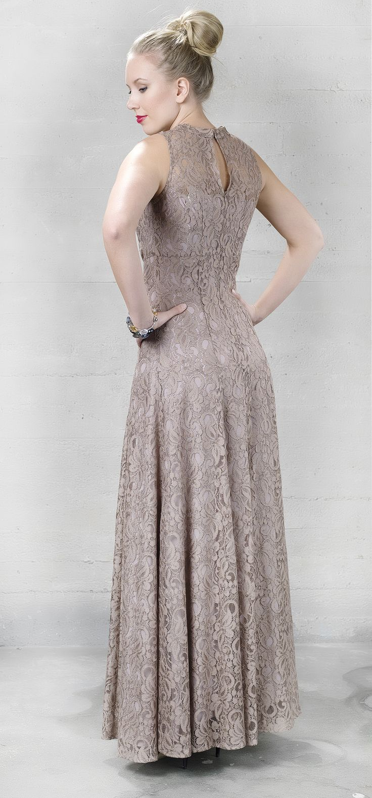 by Marja 2013 Lace evening gown - pitsinen iltapuku.