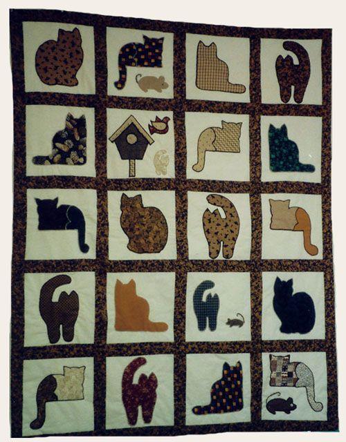 1000 Ideas About Cat Quilt Patterns On Pinterest Cat