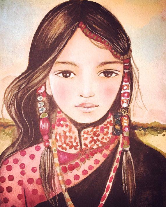 Serenah art impression tibet inspiré par claudiatremblay sur Etsy