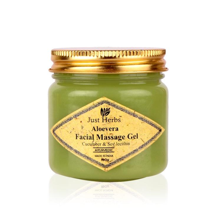 Buy Just Herbs Aloevera Facial Massage Gel Online in India @ UrbanTouch.com