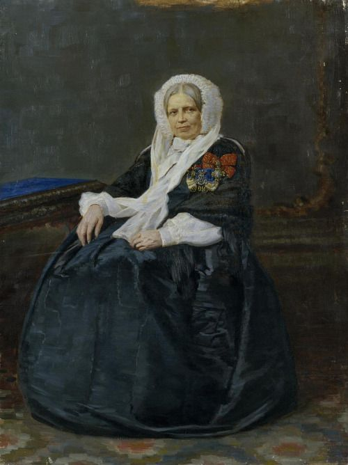 """""""Portrait of a Lady-in-Waiting""""      Russia,  late 19th century"""