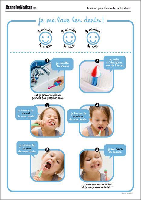 CE1 Autonomie et Initiative - Règles élémentaires d'hygiène Mémo Je me lave les dents