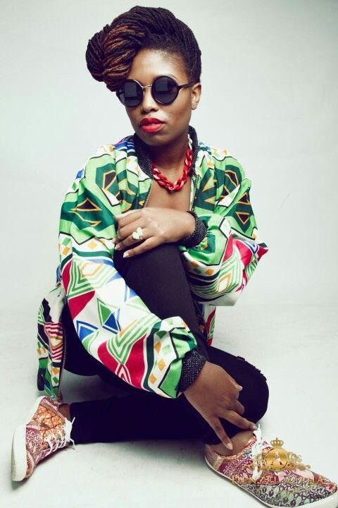 Tendai Karonga - Freelance MC and TV Presented Dressed in - Tanya Nerfetari Bomber Jacket Make up - Make Up by Gamu Style By - Signature Toscie (Tendai Kamusikiri) Photography - Denzel Alpha