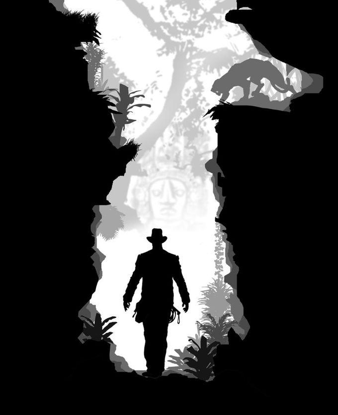 Indiana Jones silhouette art