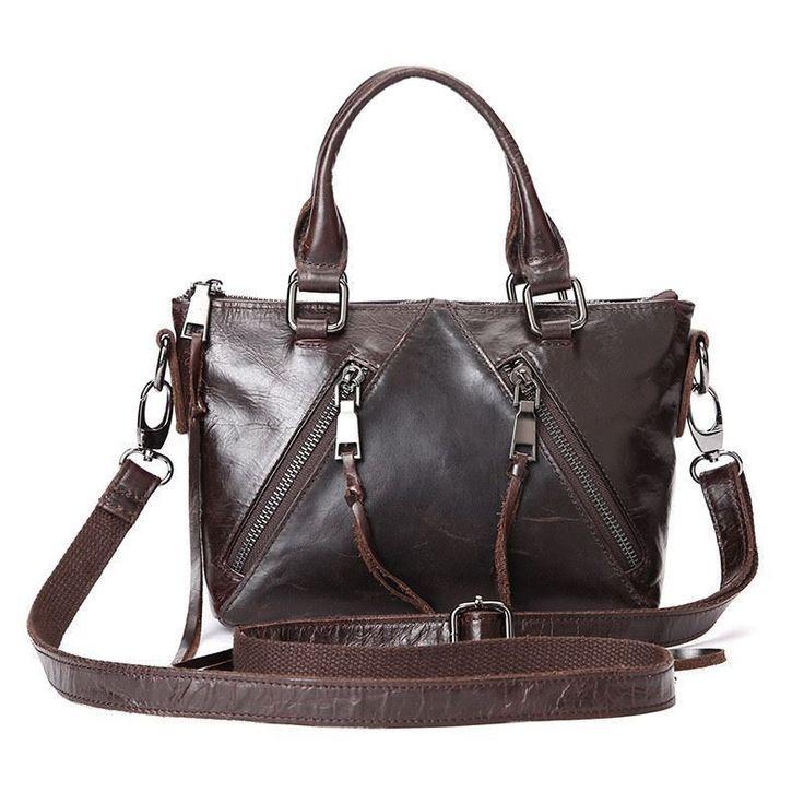 Women Tassel Design Casual Genuine Leather Cowhide Shoulder Bags Fashion Handbag