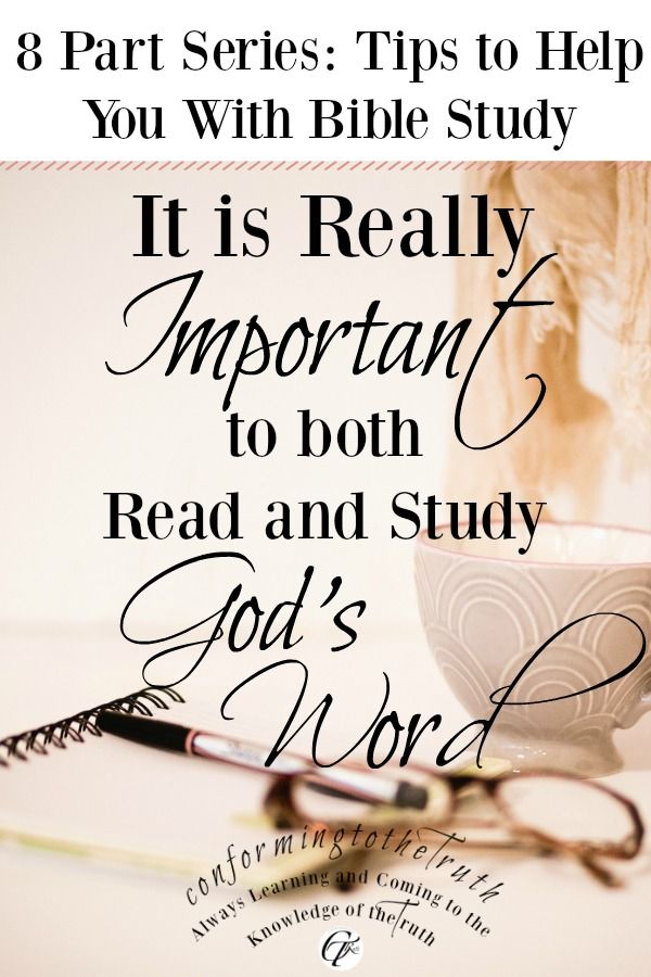 It is important to Read and Study the Word of God | Godly things
