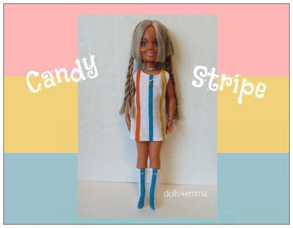"Vintage Ideal 18"" CRISSY & handgemaakte Custom Brandi Doll KLEDING - Retro Kleding, laarzen en Sieraden - Fashion - door dolls4emma"