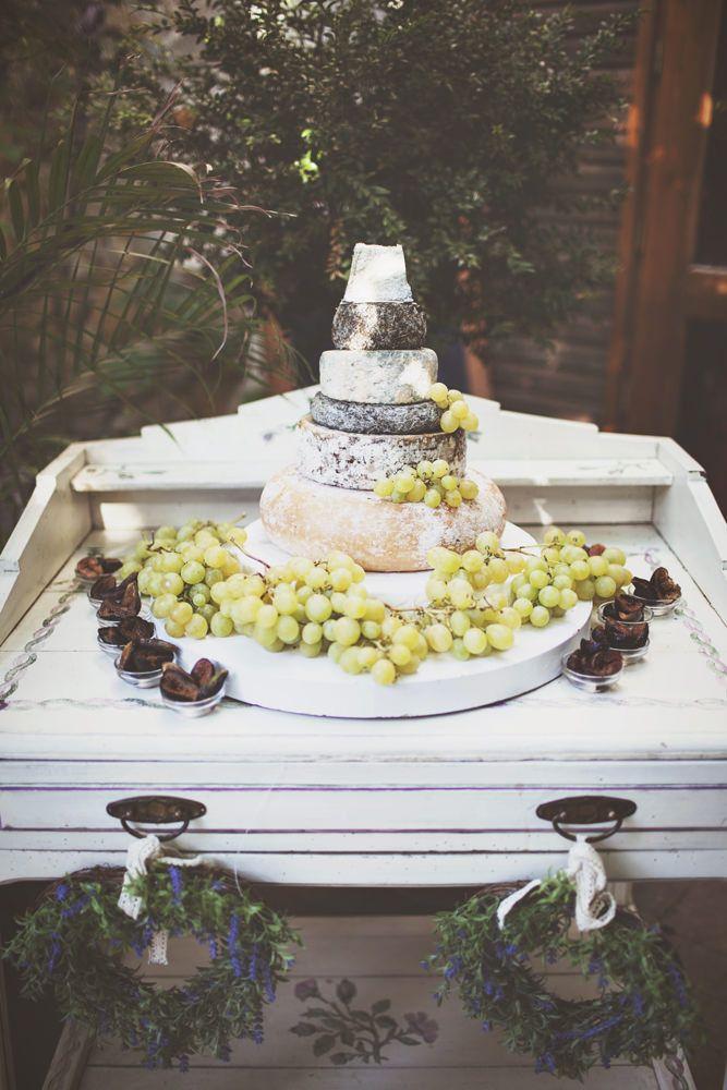 Cheese Tower Wedding Cake | Chateau du Puits es Pratx | Destination French Wedding | On Love and Photography | http://www.rockmywedding.co.uk/rebecca-sam/