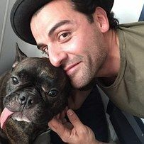 """Oscar Isaac has taken a particular liking to Carrie Fisher's dog Gary.   38 Times The """"Star Wars"""" Cast Were The Best Of Friends In Real Life"""