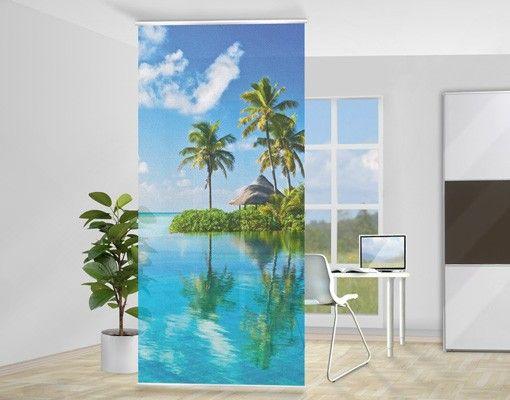 Raumteiler   Vorhang - Tropisches Paradies 250x120cm