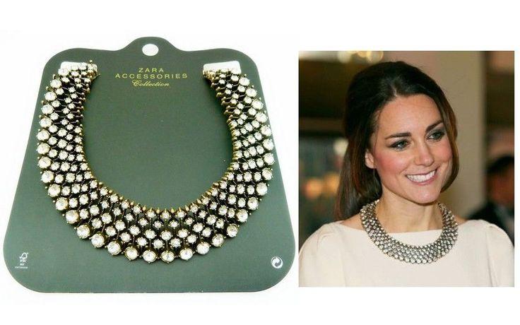 2014 Women ZARA Crystal Bead Collar Statement Chunky Choker Necklace  #Collar