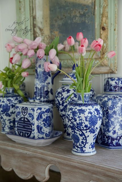 FRENCH COUNTRY COTTAGE: Blue & White Love