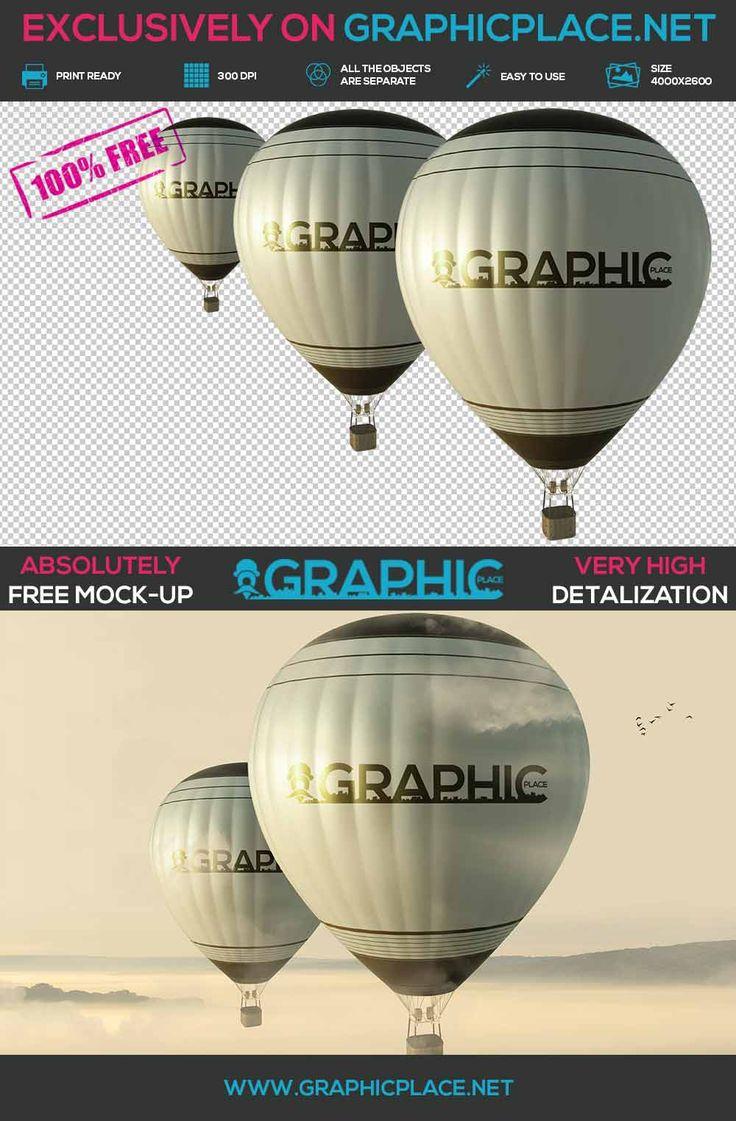 Air Balloons - Free PSD Mockup.  #AirBalloonMockUp #AirBalloonDesign #AirBalloon #freeMockUp #freepsd #freepng #psd #mockup  DOWNLOAD FREE MOCKUP HERE: http://www.graphicplace.net/air-balloons-free-psd-mockup/  MORE FREE GRAPHIC RESOURCES: http://www.graphicplace.net/