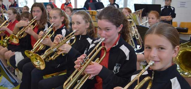 Torrens Primary School student band.