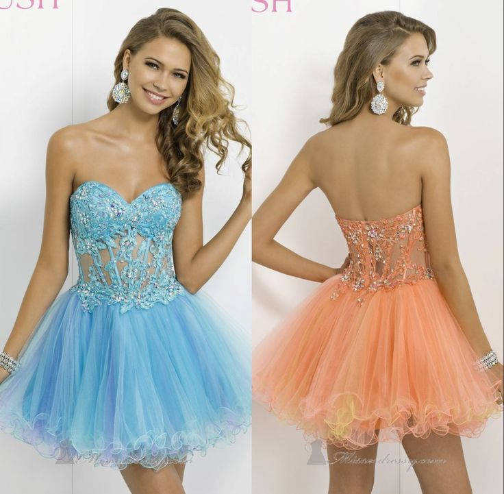 Big Discount Sexy 2014  Ball Gown Mini Beading Sweetheart Sleeveless Empire Organza Empire Prom Dresses Cheap Rushed Spark Dress