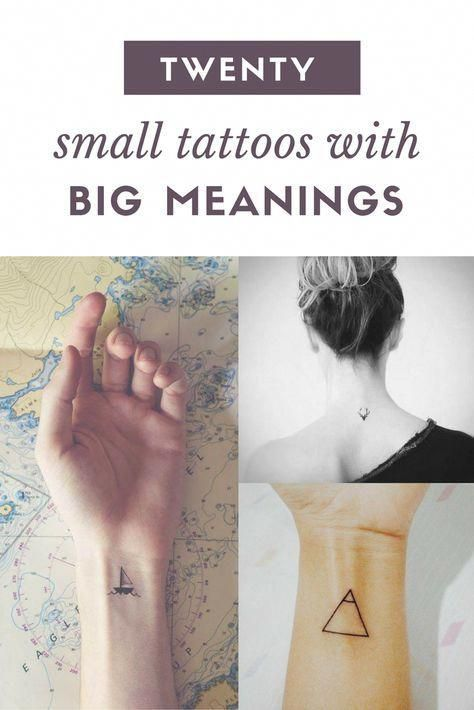 Small, minimal tattoos that have a meaning. #tattoosforwomen