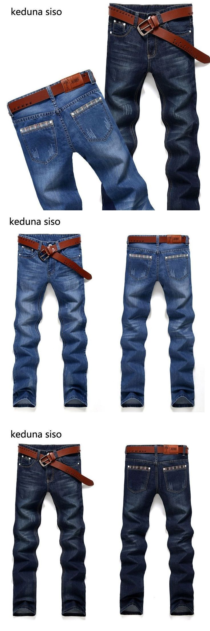2018 New Fashion Design Straight Mens Biker Jeans Men homme Casual Blue Denim Mens Clothing Brand Jeans Men hombre #mensjeansbrands #mensjeansfashion #mensjeansstraight