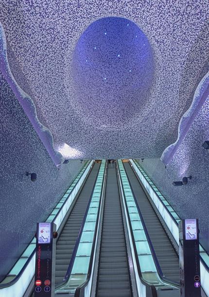 mesmerizing • Oscar Tusquets Blanca • Estación metro Toledo de Nápoles