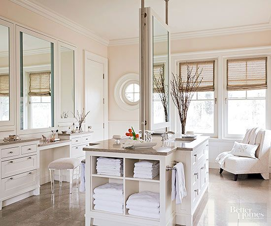 A luxury bathroom designed with the sea in mind.